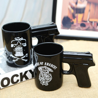 Manufacturers Selling Ceramic Cup Ceramic Cup Pistol Grips Pistol Hand Cup Mug Wholesale