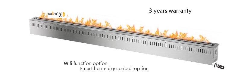 72 Inch  Black Or Silver Remote Control Intelligent Wifi Etanol Fireplace