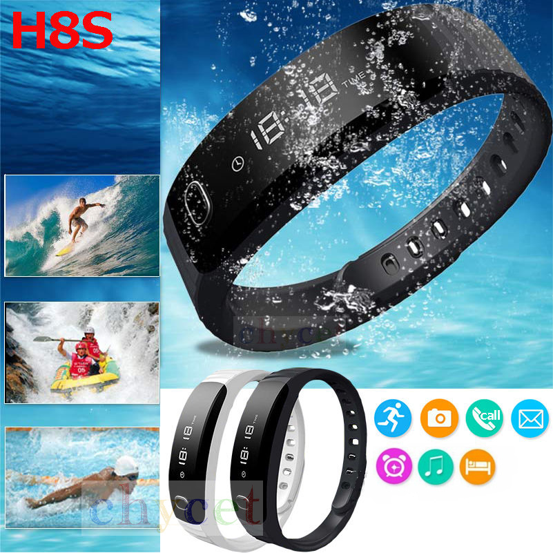 Bluetooth H8 Smart Bracelet Smart Band for Android iOS with Fitness Pedometer Wristband Call Reminder Smartband