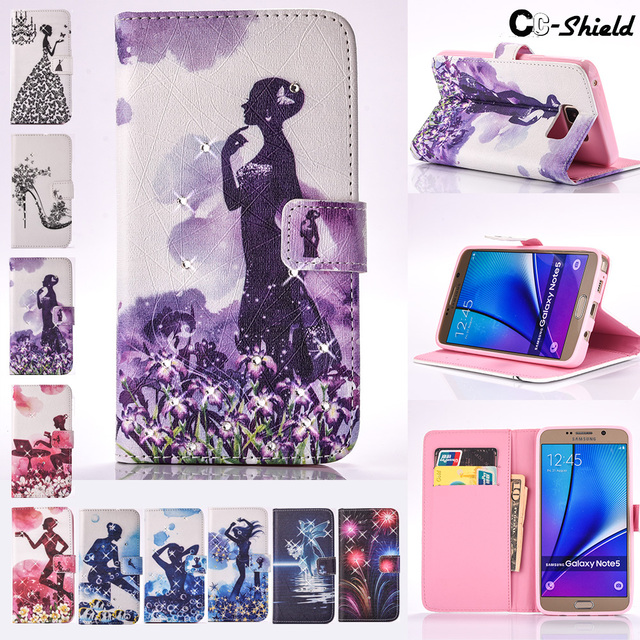 Painted Flip case for Samsung Galaxy Note 5 Note5 N920 N920C N9208 N920i SM-N920 SM-N9208 SM-N920C SM-N920i Case Phone cover