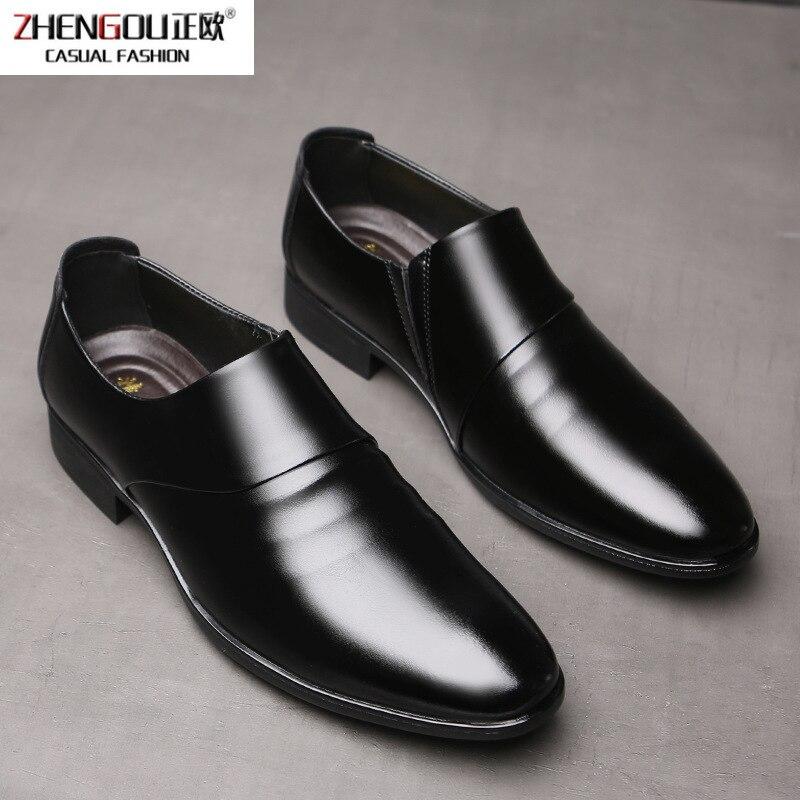 zhengouMan Leather Shoes England Business Affairs Joker Correct Dress Leisure Time Set Foot Work Dad Shoe Male Tide