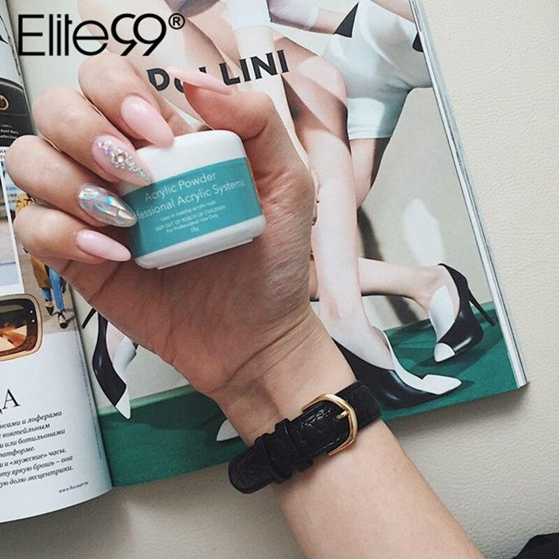 Прозрачная акриловая пудра Elite99, 15 г, розовый, белый цвет, кристаллическая пудра для дизайна ногтей, жидкий порошок для маникюра, 3D украшения для ногтей Акриловые порошки и жидкости      АлиЭкспресс