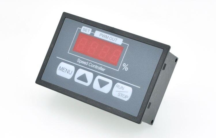 Контроллер скорости ключа цифровой дисплей процент Тахометр двигатель постоянного тока медленный старт медленный стоп контроллер 6V12V60