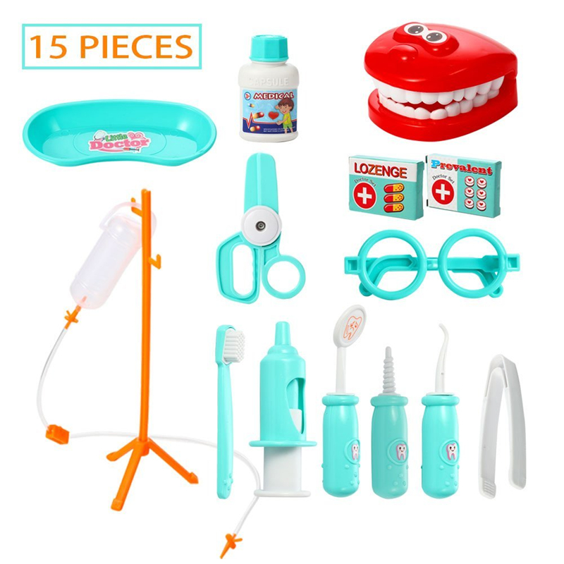 US $11 99 |15 Pieces Doctor Play set,Pretend Play Dentist Medical Kit for  Kids Holiday Gifts, School Classroom, Easter Stuffers-in Doctor Toys from