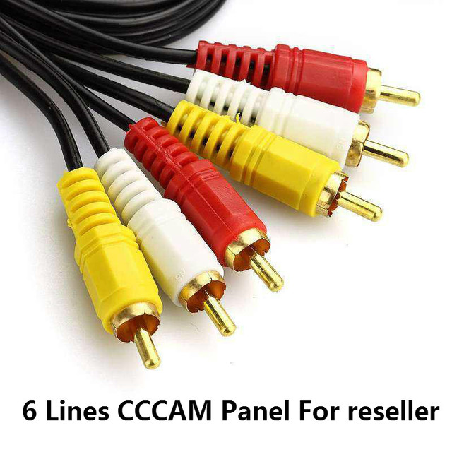 Reseller Panel for CCCAM Europe Cline 6 lines For Spain uk french Germany Netherland Polsat for Satellte receiver decoder Europe