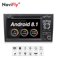 Free shipping!Navifly android8.1 Quad Core Car DVD Player GPS Navi for Audi A4 S4 RS4 2002-2008 with 4g wifi BT RDS FM