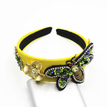 New Europe and the United States Baroque Coco Cross bee Palace Wild casual headband with accessories 898(China)