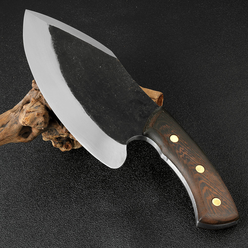 XITUO Kitchen Chef Knife High Hardness Manganese Steel Clad Steel Handmade Forged Butcher Big & Heavy Meat Cleaver Chopping Tool