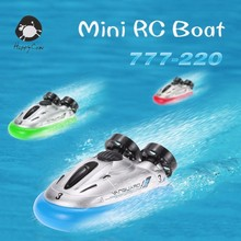 HappyCow 777-220 Mini RC Boats Radio Remote Control Hovercraft Hover barco de pesca Water Best Gifts for Children Kids Birthday