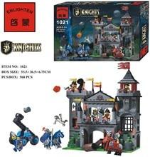 Enlighten 1021 Medieval War Castle Soldier Knights Eagle Castle Minifigure Assemble Building Block   Toys