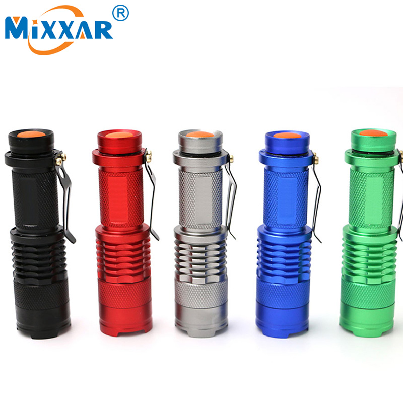 ZK20 Mini LED Flashlight 3000LM Q5 Torch AA/14500 Adjustable Zoom Focus Dropshipping Torch Lamp Penlight Waterproof For Outdoor
