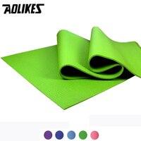 8mm Skin Friendly PVC Yoga Mat AOLIKES Brand Natural Non Slip Material Sport Mat Folding Gym Fitness Pad Pilates Yoga Bag Free