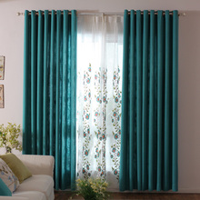 Hot Sale Pastoral Soft Cotton Curtain Tulle Living room custom made with the best quality can be customized