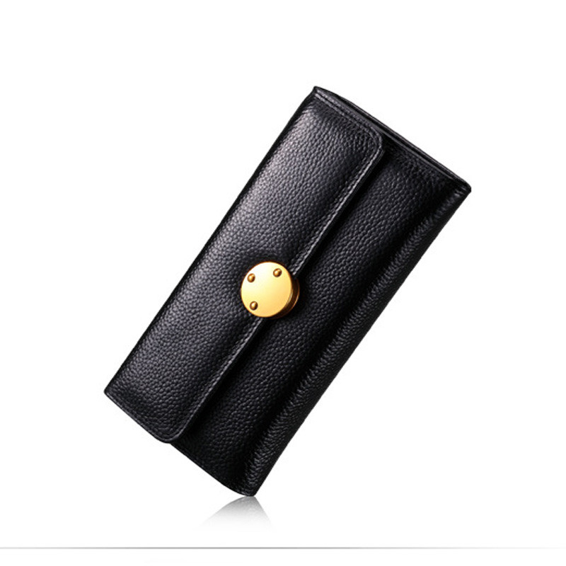 Genuine Leather Wallet Women Luxury Brand Long Womens Wallets and Purses Money Clutch Cell phone Card Holder Bag Clutch Purse luxury brand women wallets business wallet long designer double zipper leather purses id card holder purse phone case clutch