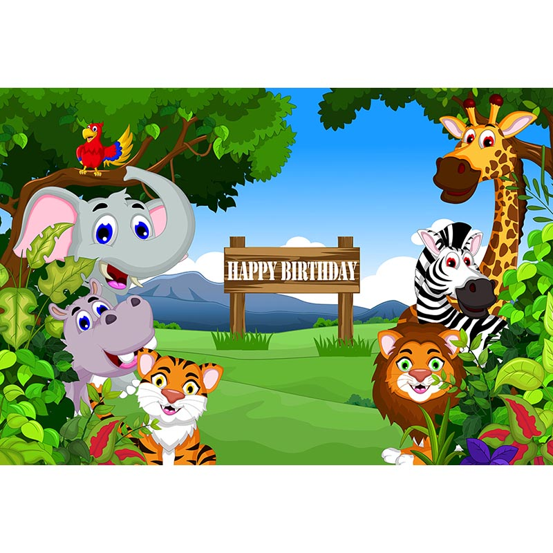 mehofoto jungle birthday party photography backdrops animals safari