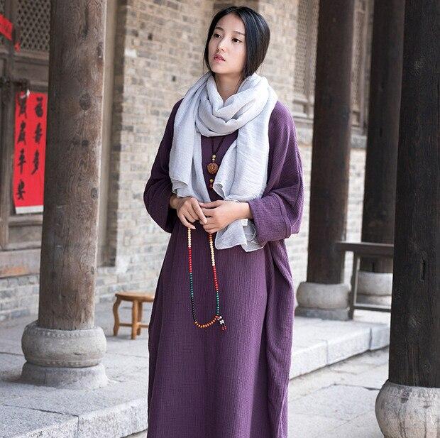 c30d69914d New 2019 Spring Summer women loose casual cooton linen dress