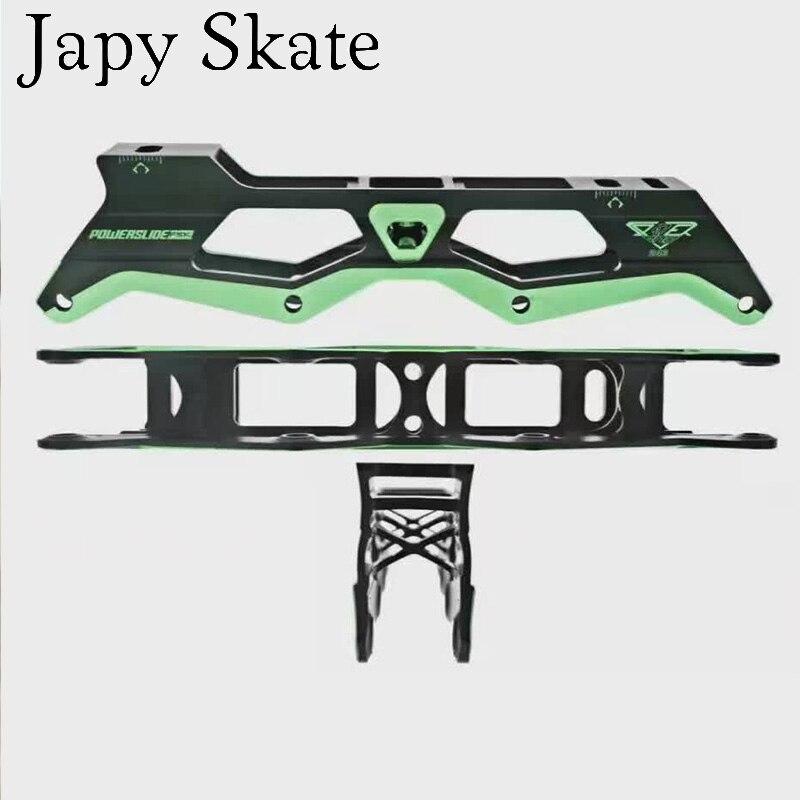 Prix pour Jus japy Skate 2016 D'origine Powerslide EVO Inline Cadre 219mm Rockered 231 243mm Pour SEBA De Patinage Slalom Patins Base à bascule Bassin