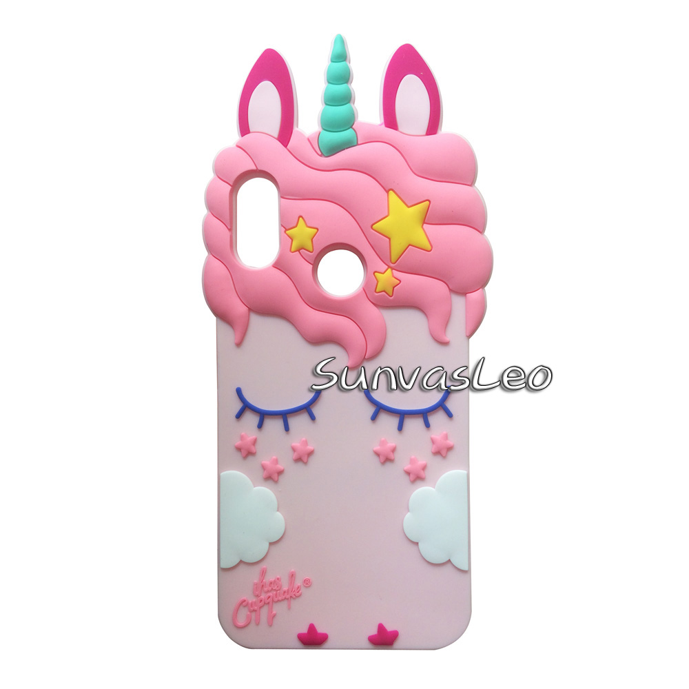 For Xiaomi Redmi 6 Pro Mi A2 Lite 3D Cute Cartoon Soft Silicone Case Phone Animal Back Cover Skin Shell Shockproof Unicorn in Fitted Cases from Cellphones Telecommunications