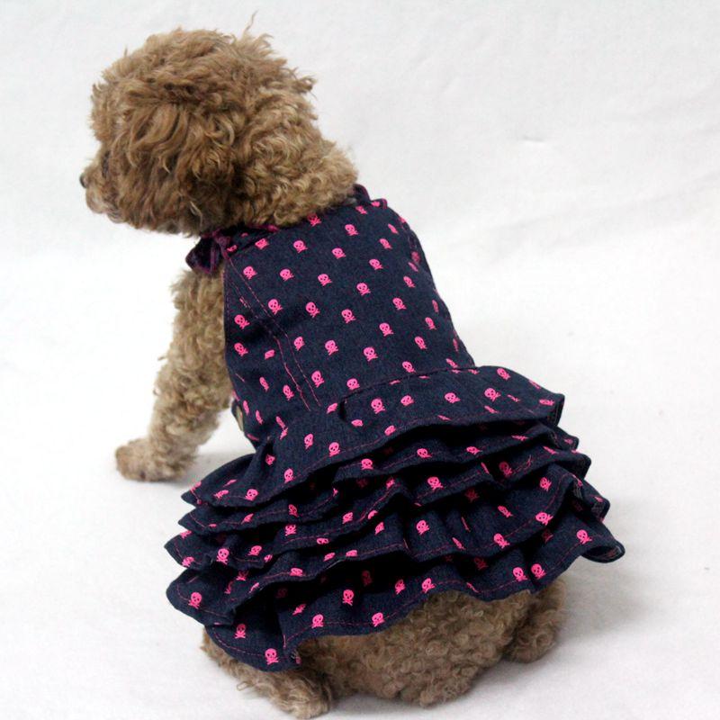 Ruffled Denim Dog Skirt