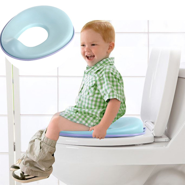 Potty Training Seat for Boys and Girls Infant Toilet Training Non-Slip with Splash Guard Includes Free Storage Hook 1