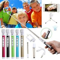 A Set Bluetooth Wireless Remote Control Extendable Handheld Selfie Stick Phone Monopod Tripod USB Data Cable Extendable Stick