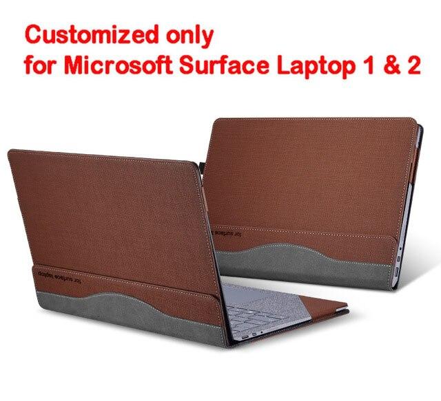 Съемный чехол для microsoft Surface Laptop 1 2 13,5 дюймов планшетный ПК ноутбук чехол Подставка для экрана клавиатура пленка ручка 2 в 1 - Цвет: brown