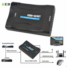 KEBIDU 1080P Scart Auf HDMI Konverter Audio Video Adapter HDMI scart Für HDTV Sky Box STB Für Smartphone HD TV DVD Neueste