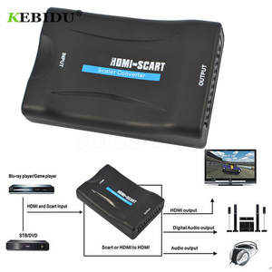 KEBIDU Video-Adapter STB Smartphone Audio Scart-To-Hdmi-Converter Hdmi-To-Scart 1080P