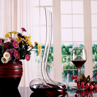 Zorasun 1800ml healthy unleaded crystal glass wine decanter bar sets alcohol distiller water bottle gift kitchen dining
