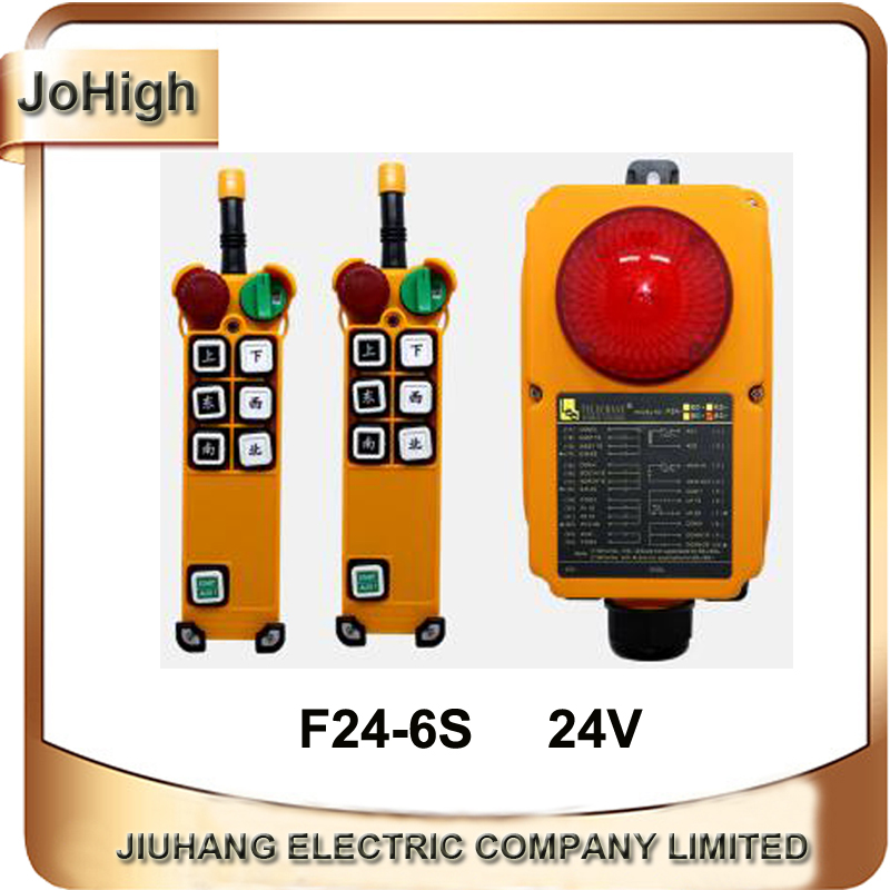 F24-6S+ Red Colour Crane Remote 6 Buttons Telecrance Industrial RadioRemote Control For Crane Hoist 2 transmitter + 1 receiver xy7000s 2 4ghz receiver for hisky h 6 transmitter