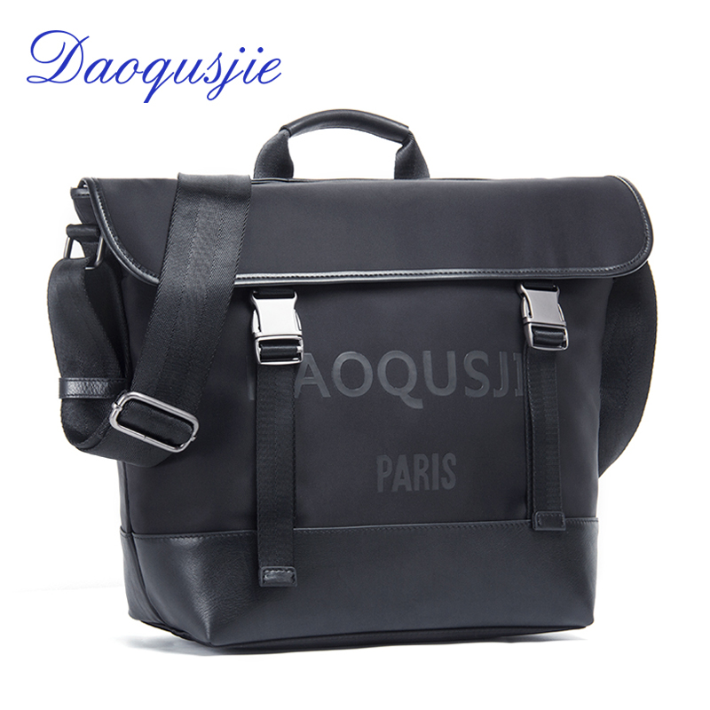 DAOQUSJIE men's nylon tote bag waterproof crossbody bag for men business shoulder bags large capacity male handbags travel bags qibolu vintage large capacity handbags men shoulder tote bag for travel business sacoche homme bolso hombre bolsa masculina 6002