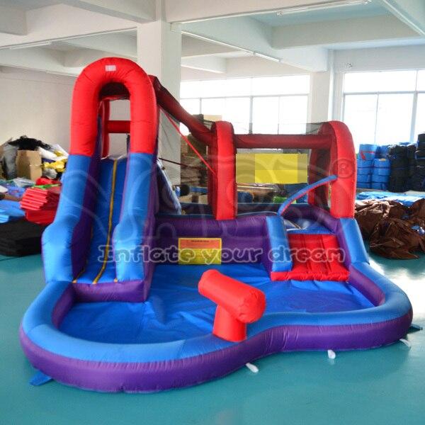 DHL Бесплатная доставка надувной водной горкой для детей на открытом воздухе игрушки для детей бассейн
