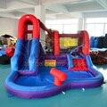 Envío Libre de DHL tobogán inflable para niños al aire libre juguetes para niños piscina de agua