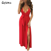 Summer Sexy Dress Women Red Beach Long Bandage Multiway Convertible Dresses Infinity Wrap Robe Maxi Dress