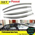 car styling Window Visors For Volkswagen VW Passat B7 Sedan 2012 2013 2014 2015 Sun Rain Shield Car-Styling Awnings Shelters Car