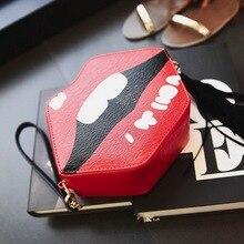 Lips Shaped Mini Bag