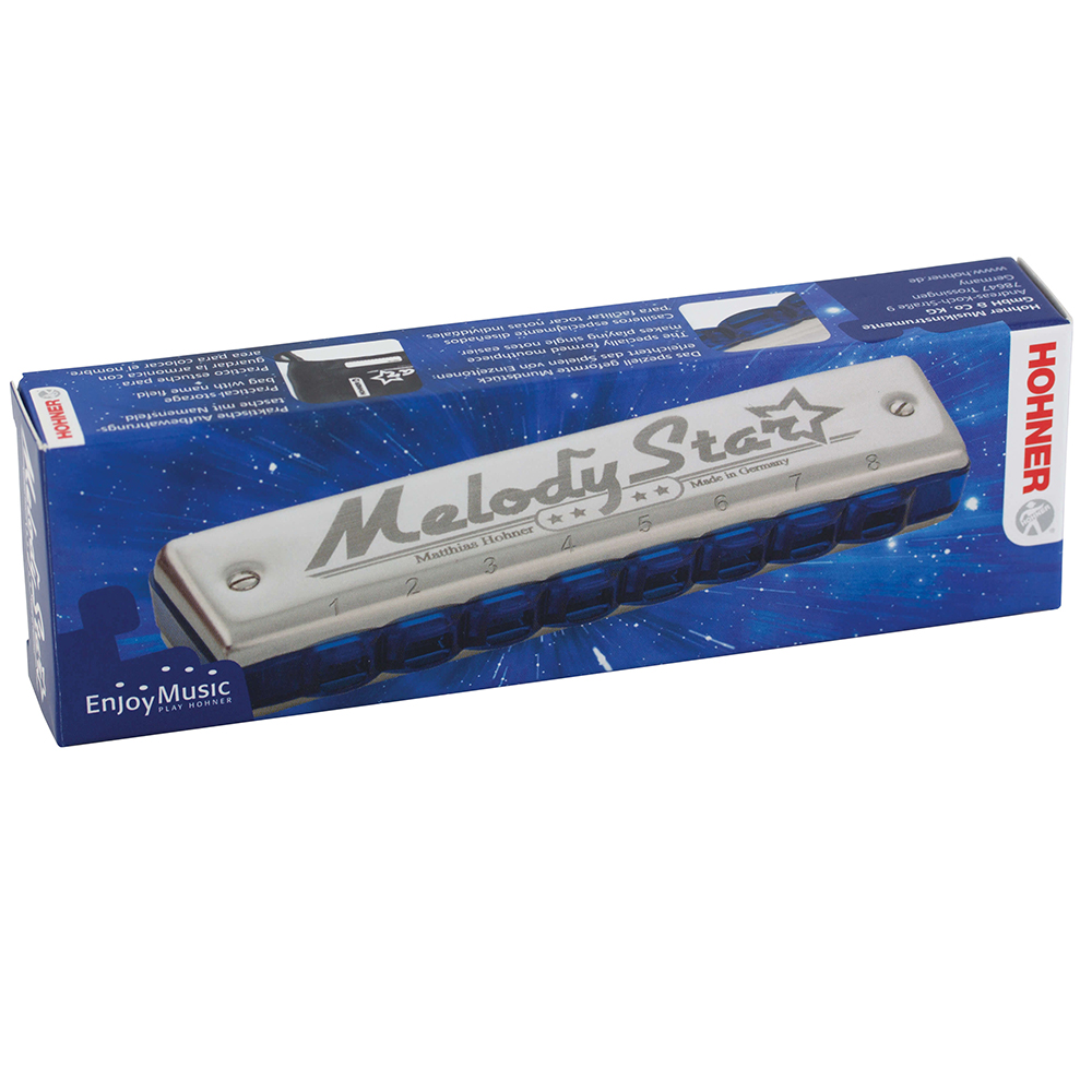 Hohner Diatonic Harmonica First Solo Beginner Series 8 Hole 16 Tone Blues Harp Musical Instruments Mouth Organ Key C Melody Star