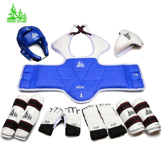 dd8146be2c819 9 peças protetores de taekwondo De Braços De conjunto completo de adulto  criança Capacete protetor de