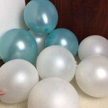 baloons 50pcs/lot 12inch 3.2g pearl blue latex balloons baby shower decors boy globos wedding decoration