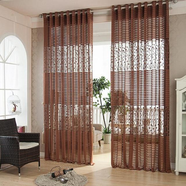 Cortinas Roller Blinds Sheer Curtains Cortina Para Sala De