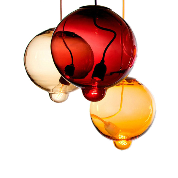 American country glass pendant lamps restaurant dining room personality creative creative color glass pendant lights ZH GY208