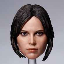 1/6 Scale Female Head Sculpt Accessory Felicity Jones Head Carving Model Toys for 12 inches Action Figure Body custom arnold schwarzenegger head sculpt 1 6 scale war damage edition t800 head carving model toys