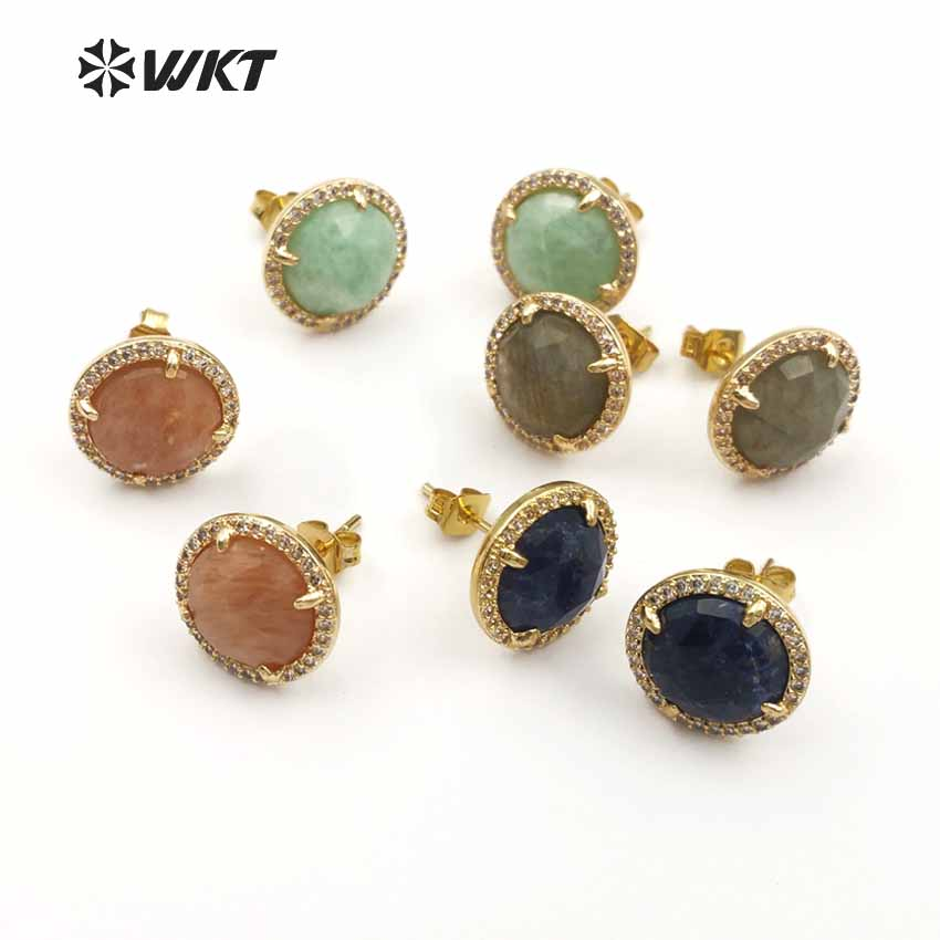 ME054 WKT Wholesale High Quality Fashion CZ Pave with Sparkly Exquisite Beautiful Stone Faceted Round Shape