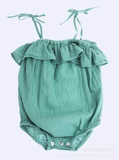 2016 ins Pão triângulo escalada roupas de verão sólida estilingue Romper recém-nascidos crawling macacão sem mangas infantil do bebê roupas de menina