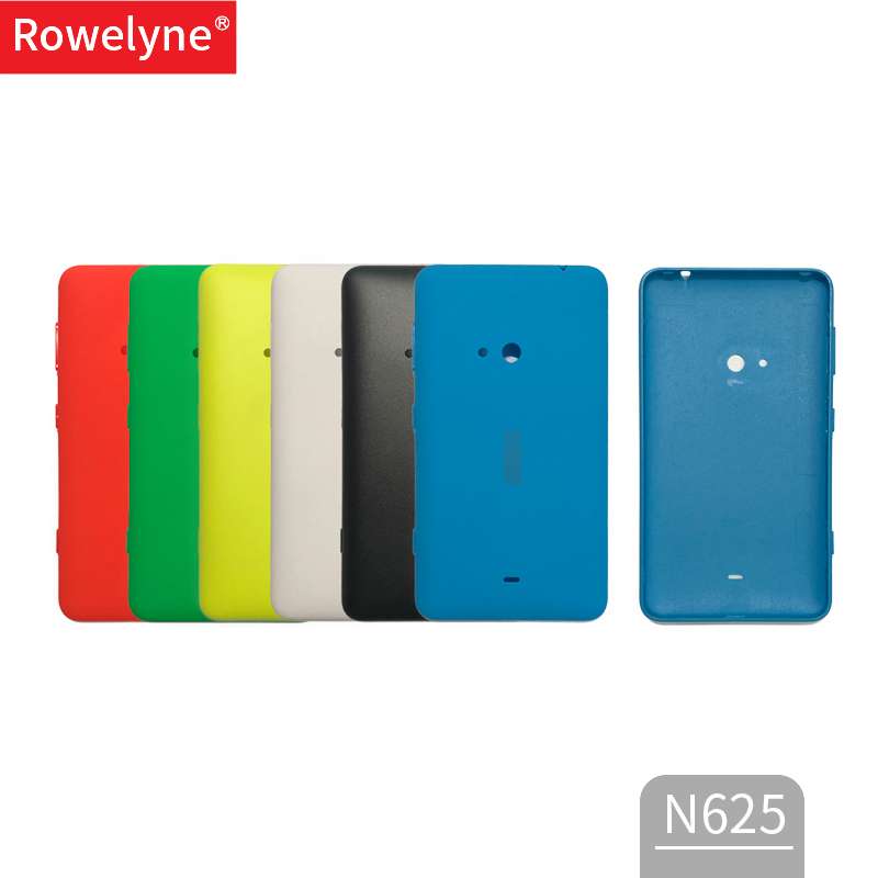 Rear Cover For Nokia 625 Back Battery Door Housing For Microsoft Lumia 625 Back Cover Case With Side Button Replacement Parts