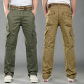 2015 New Promotion Men Cargo Pants man pants Army PANTS Cotton Canvas Camouflage Joggers Multi Pocket Trousers