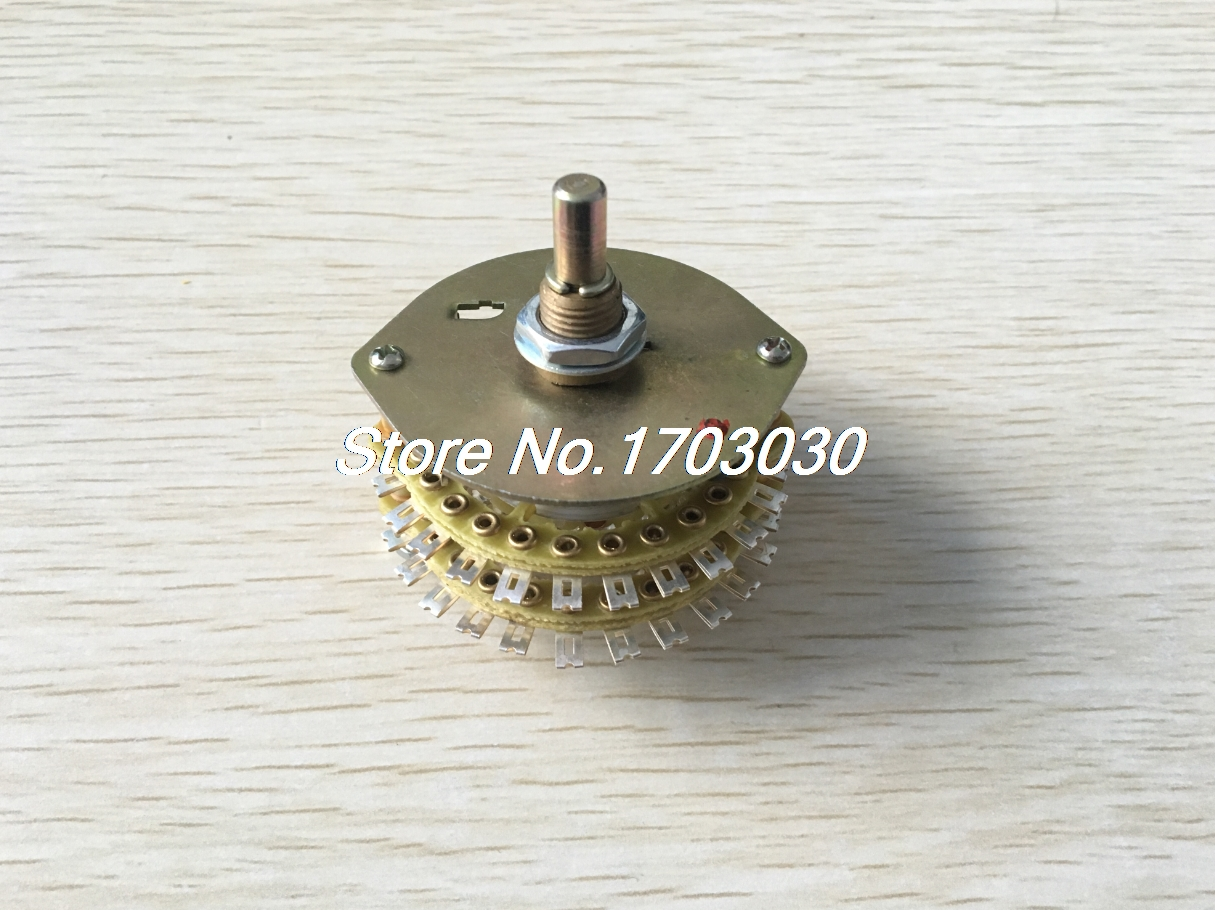 цена на DIY Volume Control 2P23T 2 Pole 23 Throw 2 Wafers Selector Rotary Switch