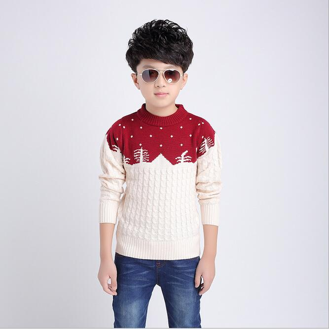 d19e2206858 New Fashion 2016 autumn winter brand Boy Children sweater coat Wool Child  Print Cartoon Sweaters Big size hot sale