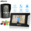 KKmoon 7'' Wired Video Door Phone System Visual Intercom Doorbell 800x480 TFT Color Monitor 700TVL Outdoor IR Camera 6*RFID Card