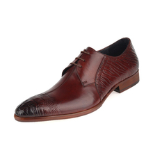 купить New Arrival Man Formal Dress Lace Up Shoes Genuine Leather Male Office Oxfords Pointed Toe Men's Wedding Bridal Flats JS-A0022 по цене 5651.91 рублей